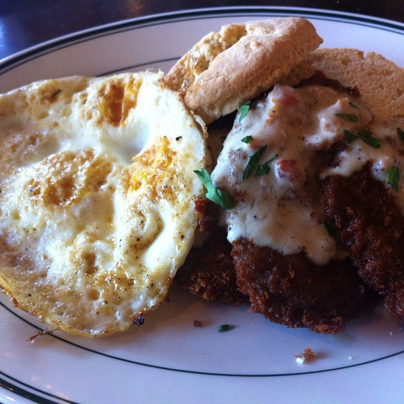 chicken fried steak and eggs - Daily Grill - Irvine, Irvine, CA