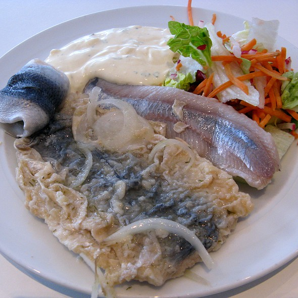 Herring Variation: Brathering, Fillets of Soused Herring, Tartar Sauce @ Paparazzi Restaurant