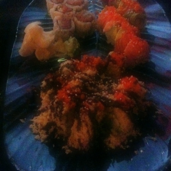 Spicy Tuna Roll, Rainbow Roll And Crunch Roll @ Red Ginger Sushi-Thai Restaurant -dine in-deliver