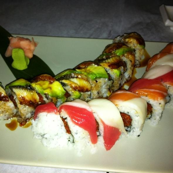 rainbow  & little dragin roll @ Blue Fin Sushi Bar