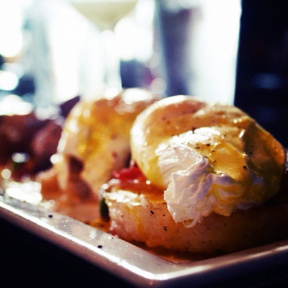 Risotto Eggs Benedict @ House Restaurant Cafe And Bar The