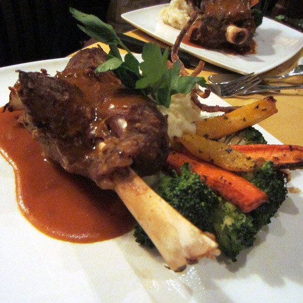 Braised Australian Lamb Shank @ Barootes Restaurant - Casual Dining