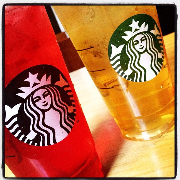 Green Tea Lemonade, Passion Iced Tea And Kids' Hot Cocoa @ Starbucks