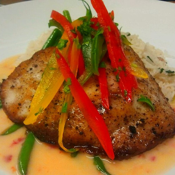 Pan Seared Mahi with a Spicy Ginger Butter Sauce @ Louie's Backyard
