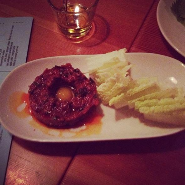 Yukke (Korean-Style Beef Tartare) @ Biwa