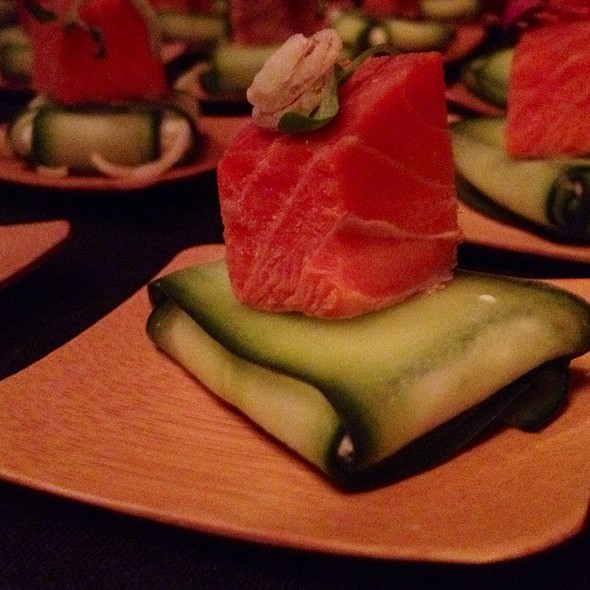 Smoked Salmon On Cucumber Purse Filled With Chevre, Dill, Capers - Blackfish at Tulalip Resort Casino, Tulalip, WA