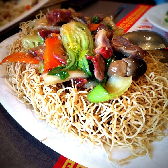 BBQ Pork Pan Fried Crispy Noodle @ First Chinese BBQ