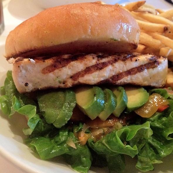 Jerk Spiced Pacific Swordfish Sandwich @ Scott's Seafood Grill & Bar