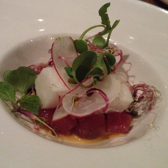 Ahi Tuna With Dashi Sponge @ Ink.