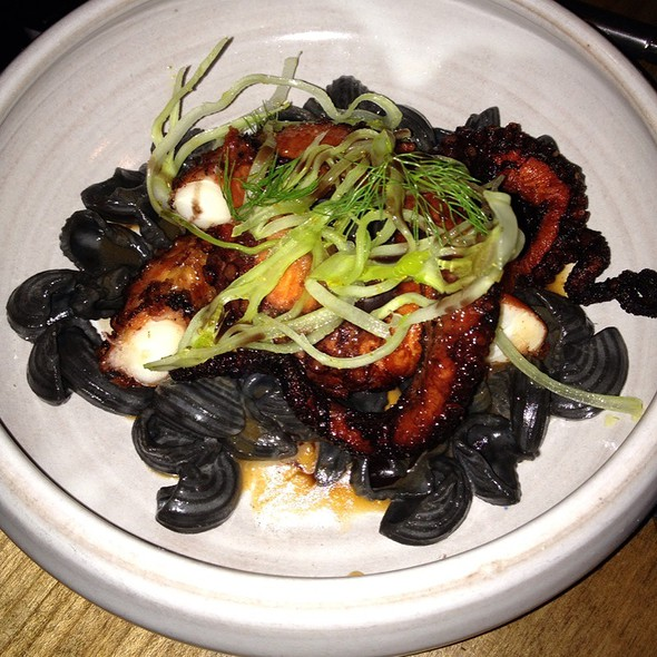 Octopus With Ink. Shell Pasta @ Ink.