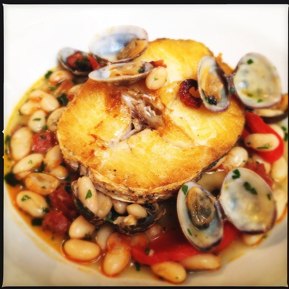 Roasted Hake With Clams, Chorizo, Butterbean Broth @ The Avalon Public House and Garden