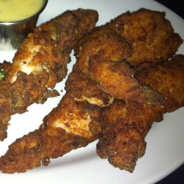 Pretzel-Crusted Chicken Fingers @ The Sidecar Bar & Grille