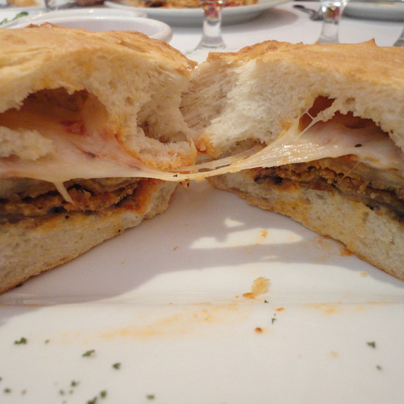 Eggplant Parmigiana Sandwich