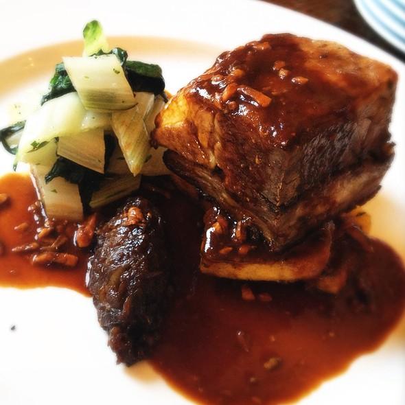 Confit Lamb Shoulder, Grilled Polenta, Swiss Chard, Anchovy Sauce @ Rosendale Pub