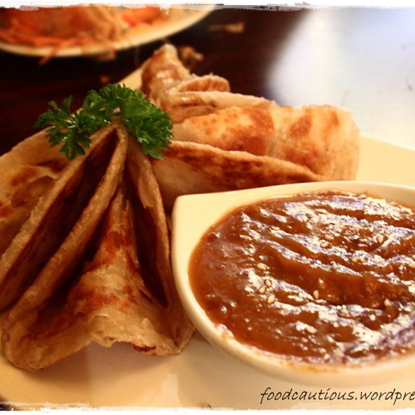 Roti Bread with Satay Sauce @ Le Bangkok