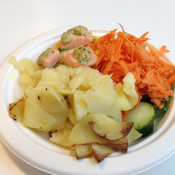 Sea Trout, Cream Potatoes And Salad Bar @ Facebook Cantine