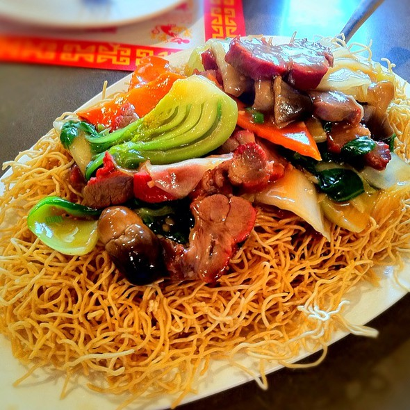 Barbecue Pork Pan Fried Crispy Noodle @ First Chinese BBQ