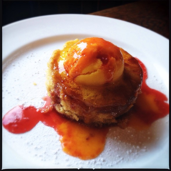 Rum & Pineapple Upside Down Cake, Mango Sorbet @ The Rosendale