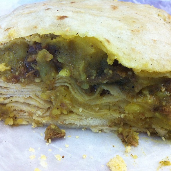 Beef Curry Roti @ Shalama's Halal Roti Shop