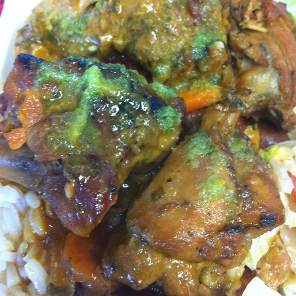 Wednesday Lunch Special Stewed Chicken With Rice And Beans @ Shalama's Halal Roti Shop