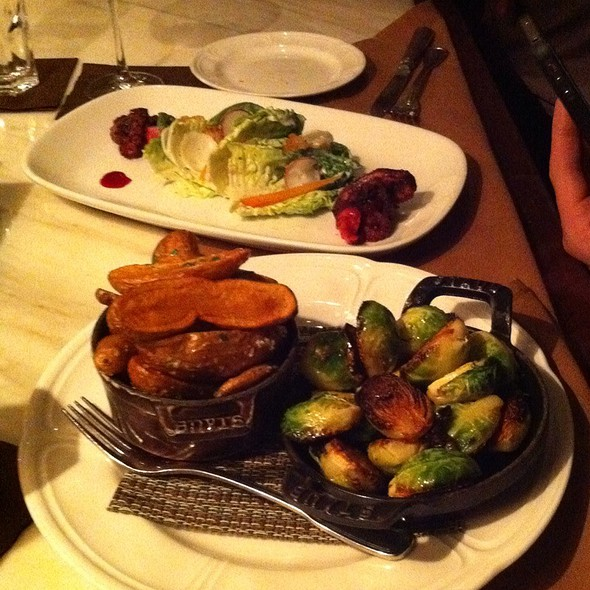 Carmelized Brussel Sprouts, Duck Fat Fries And Octopus Salad @ Sepia
