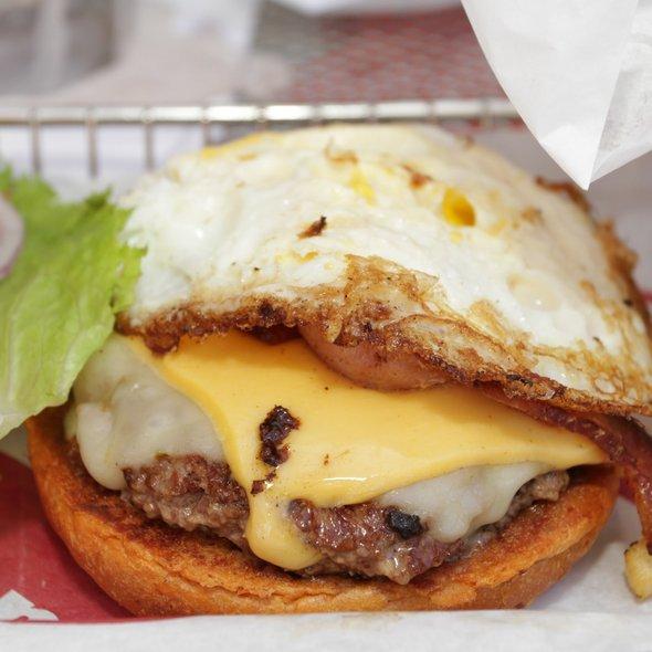 Bacon Cheeseburger with Fried Egg @ Smashburger