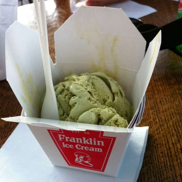 Green Tea Ice Cream @ Franklin Fountain