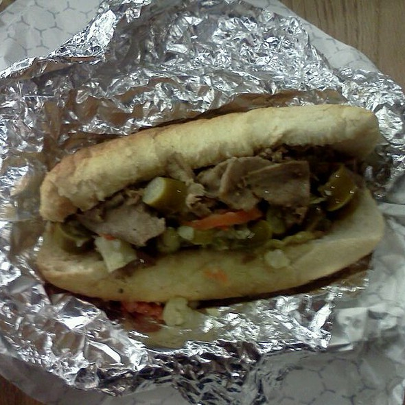 Italian Beef Sandwich @ DJ's Hot Dog Co.