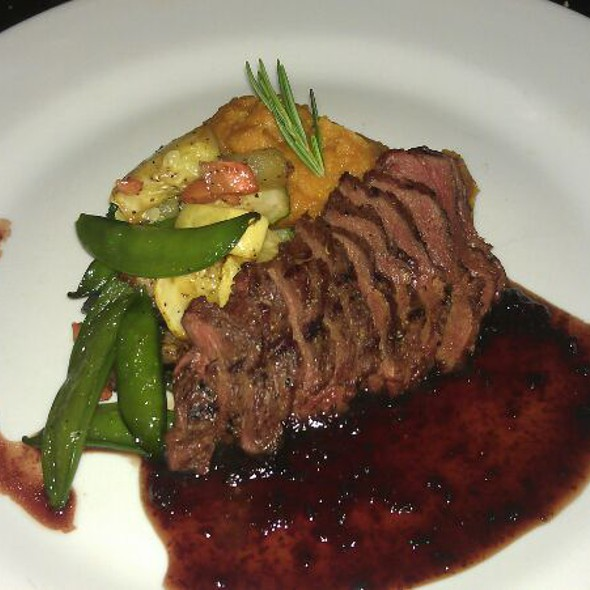 Grilled Kanagroo Filet With Mashed Sweet Potato And Toscana Fig Sauce - Philip Marie, New York, NY