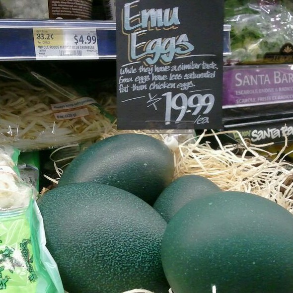 Emu Eggs @ Whole Foods Market