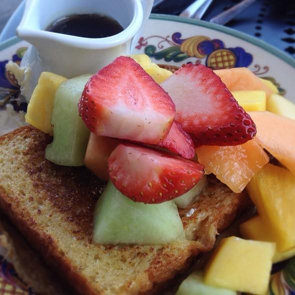 Challah French Toast With Fruits @ Zazie