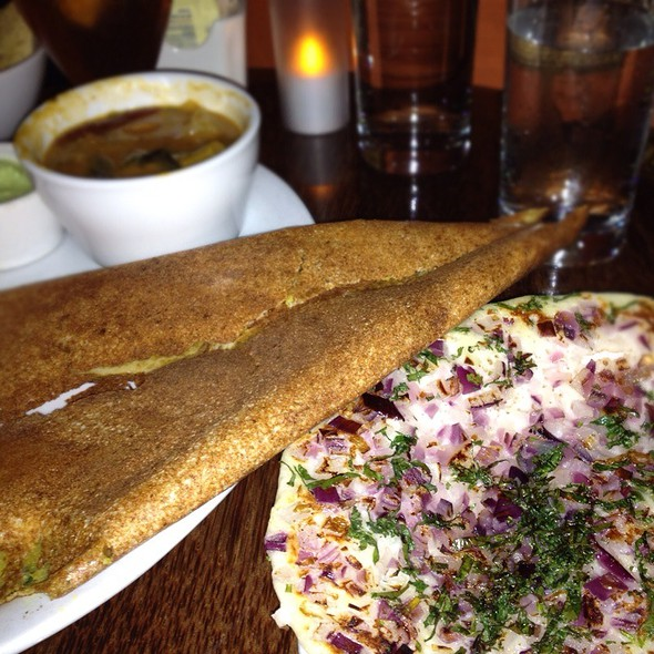 Masala Chutney Dosa And Caramelized Onion Uttapam  @ Dosa on Valencia