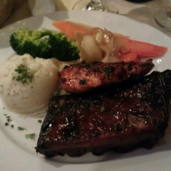 Barbecue Chicken And Ribs @ Felico's Restaurant