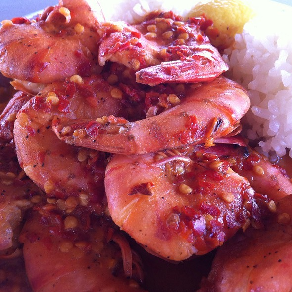 Hot And Spicy Shrimp Plate @ Giovanni's Original Shrimp Truck