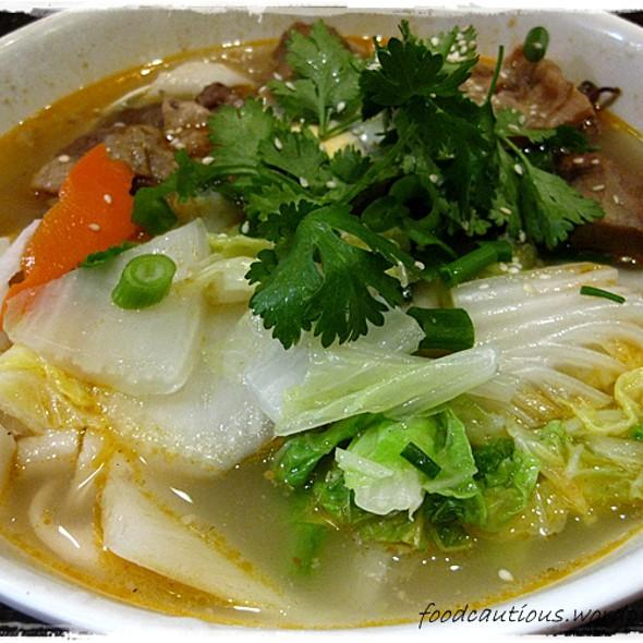 Homemade Flat Noodles ~ Beef @ Dumplings Plus
