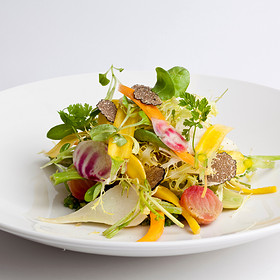 Raw and Cooked Vegetable Salad