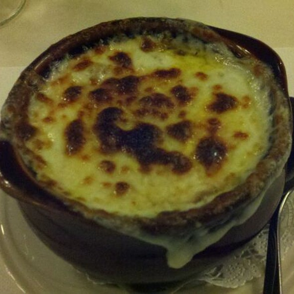Made to order crock of French Onion Soup @ Erie Maennerchor