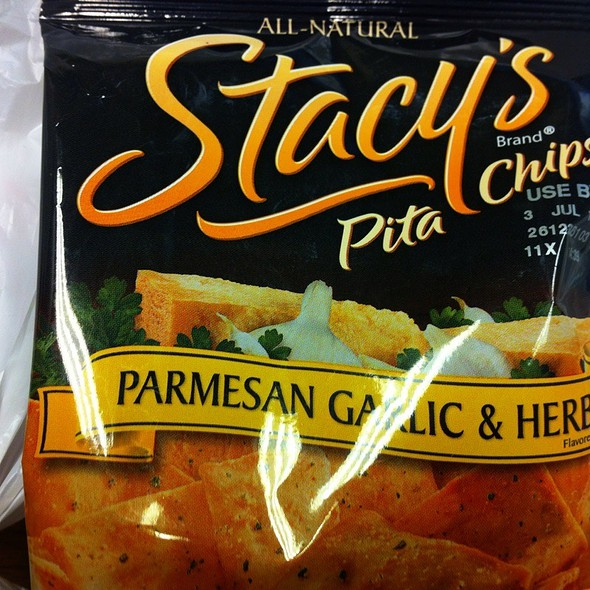 Parmesean Garlic Pita Chips