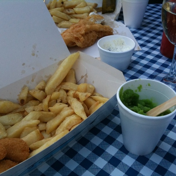 Scampi and Chips @ Fish House