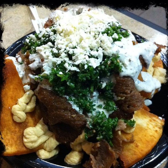 Spinner's Nachos (Fried Pita, Gyros, And All The Fixins) @ Spinner's