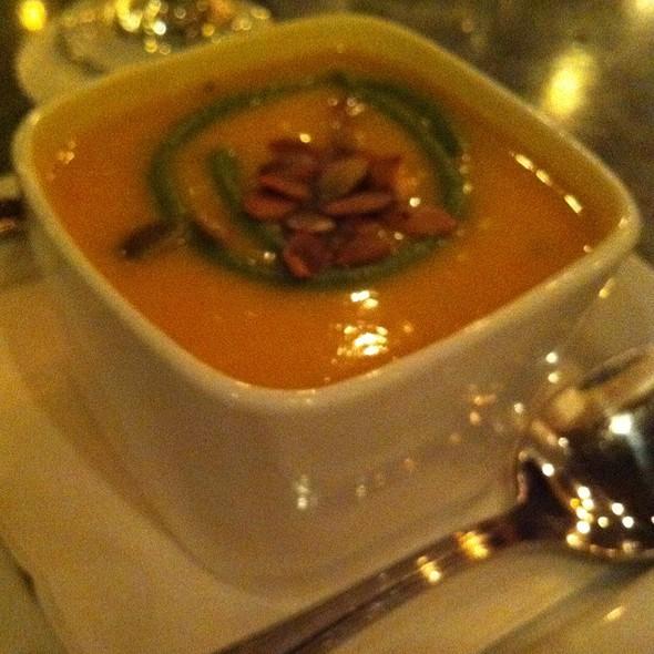 Coconut And Sweet Potato Bisque @ Benjy's Restaurant