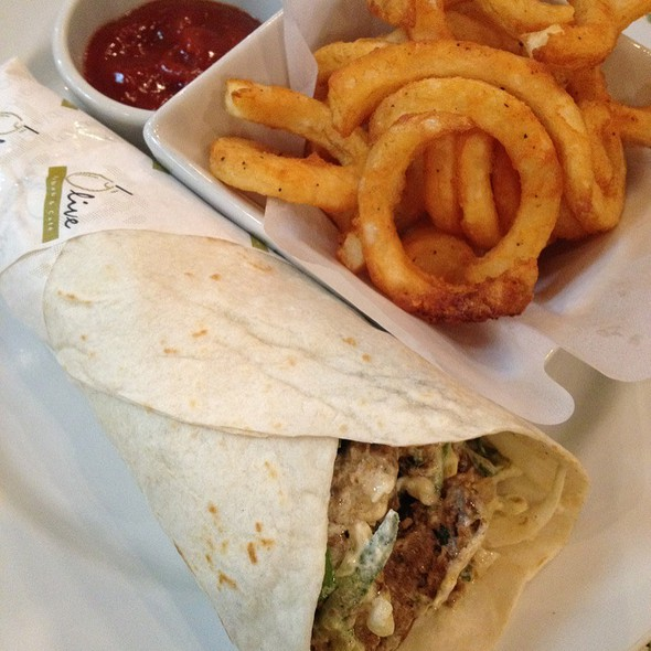Special Lamb Burger Set @ Olive Kebab & Cafe