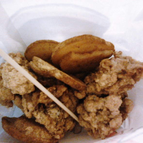 Chicken Karaage Pops with Mojos