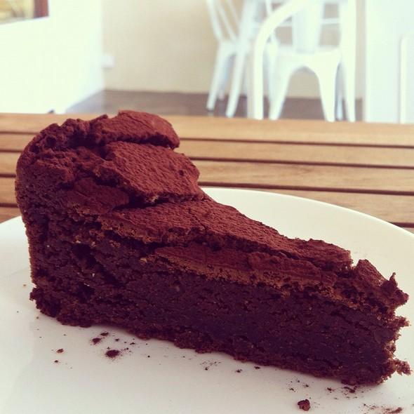 Plain flourless chocolate torte at All Good Things