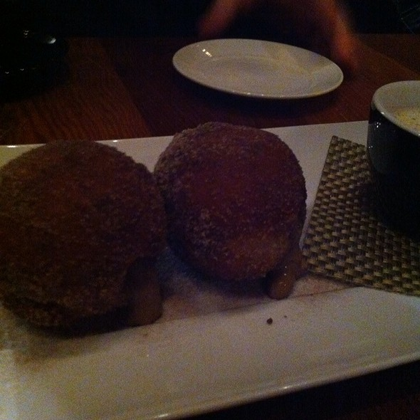 Coffee Cream Filled Donuts With White Hot Chocolate @ Heidi's Minneapolis