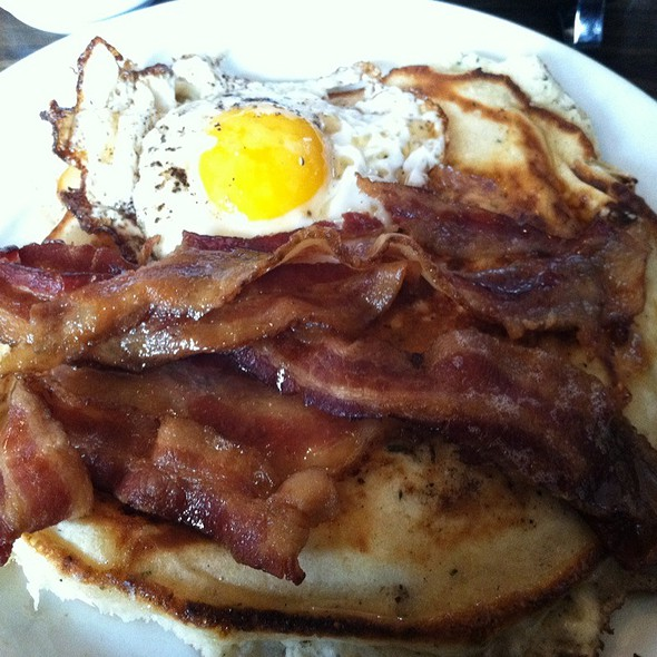 Ricotta Herb Pancakes @ Thistle Hill Tavern