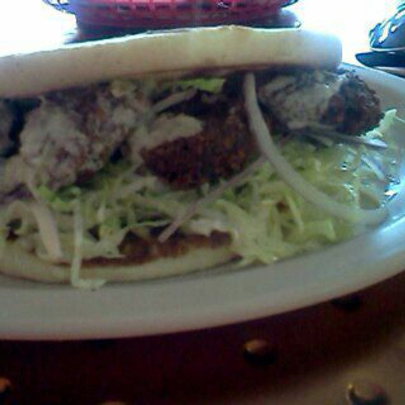 The Falafel Sandwich @ Elijah's Cafe