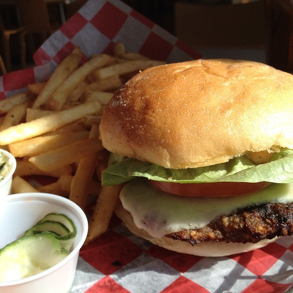 Turkey Burger And Fries