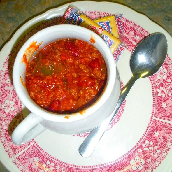 Bowl of chili @ West Goshen Deli & Restaurant