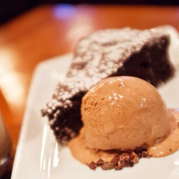 Brownie With Chocolate Ice Cream @ Estadio Restaurant
